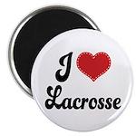 I Love Lacrosse Magnet