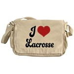 I Love Lacrosse Messenger Bag