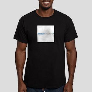 design iterative logo Men's Fitted T-Shirt (dark)