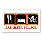 Eat. Sleep. Pillage. Rectangle Sticker