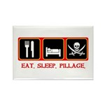 Eat. Sleep. Pillage. Rectangle Magnet