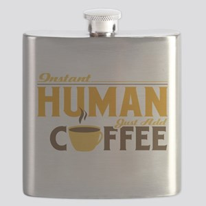 Instant Human Just Add Coffee Flask