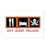 Eat. Sleep. Pillage. Postcards (Package of 8)