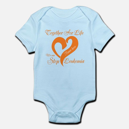 Personalize Leukemia Infant Bodysuit