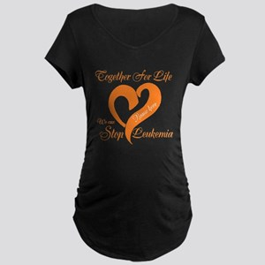 Personalize Leukemia Maternity Dark T-Shirt