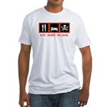 Eat. Sleep. Pillage. Fitted T-Shirt