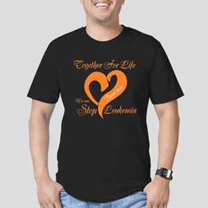 Personalize Leukemia Men's Fitted T-Shirt (dark)