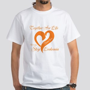 Personalize Leukemia White T-Shirt