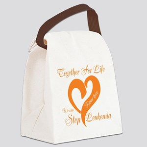 Personalize Leukemia Canvas Lunch Bag