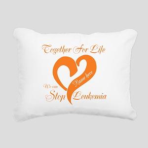 Stop Leukemia Rectangular Canvas Pillow