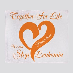Stop Leukemia Throw Blanket