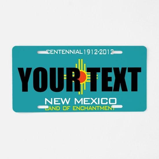 New Mexico Centennial Custom License Plate