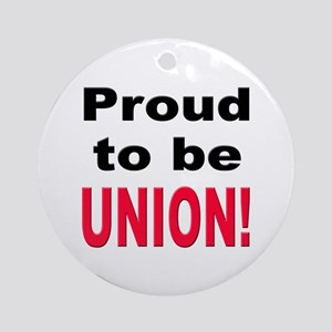 Proud Union Ornament (Round)