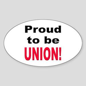 Proud Union Oval Sticker