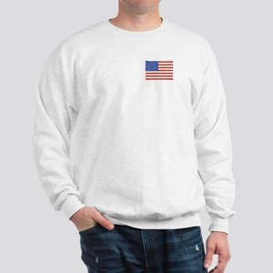 Watercolor USA Flag: Sweatshirt