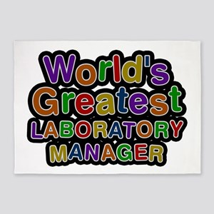 World's Greatest LABORATORY MANAGER 5'x7' Area Rug