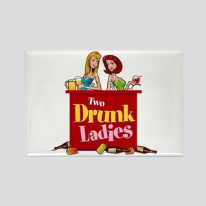 Two Drunk Ladies 2 Rectangle Magnet (100 pack)