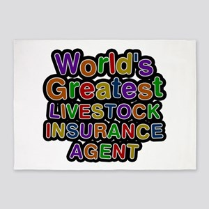 World's Greatest LIVESTOCK INSURANCE AGENT 5'x7' A