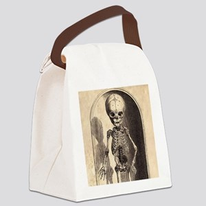 Skeletal Child Alcove Canvas Lunch Bag