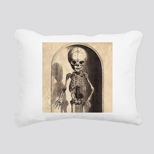 Skeletal Child Alcove Rectangular Canvas Pillow