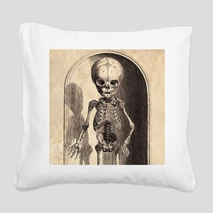Skeletal Child Alcove Square Canvas Pillow
