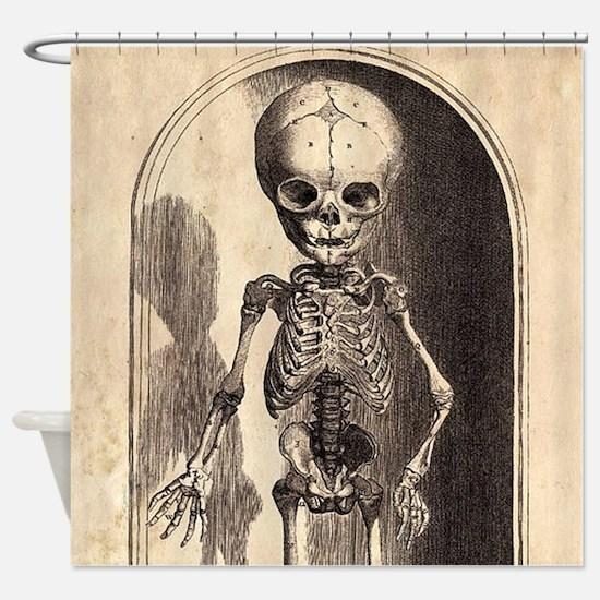Skeletal Child Alcove Shower Curtain