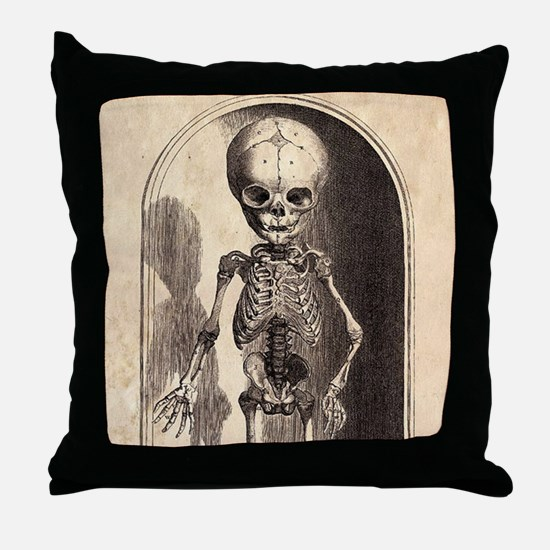 Skeletal Child Alcove Throw Pillow