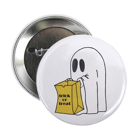 """Trick or Treat Ghost 2.25"""" Button (10 pack)"""