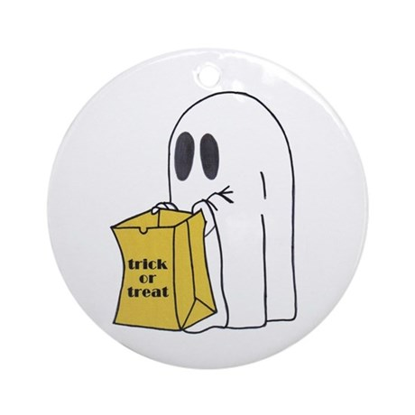 Trick or Treat Ghost Christmas Ornament