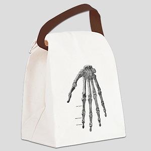 Skeleton hand Canvas Lunch Bag