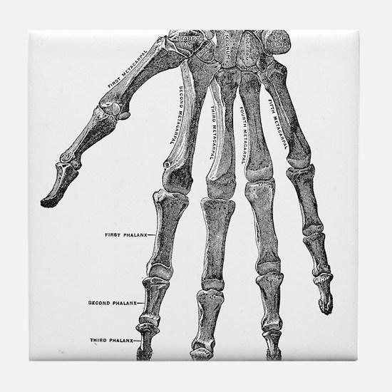 Skeleton hand Tile Coaster
