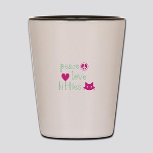 Peace Love Kitties Shot Glass