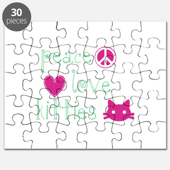 Peace Love Kitties Puzzle