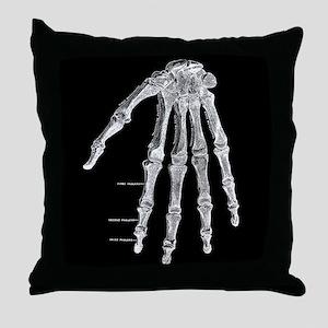 Skeleton hand Throw Pillow