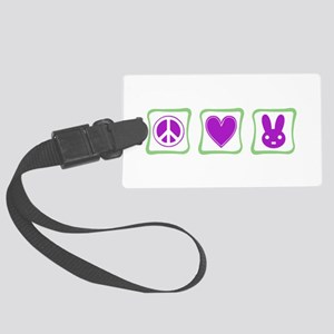 Peace Love Bunnies Large Luggage Tag