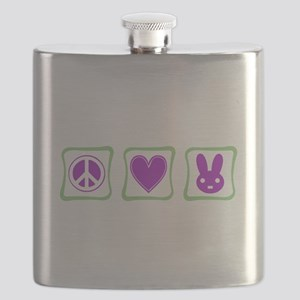 Peace Love Bunnies Flask