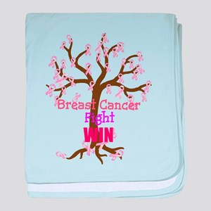 Breast Cancer, Fight, WIN baby blanket