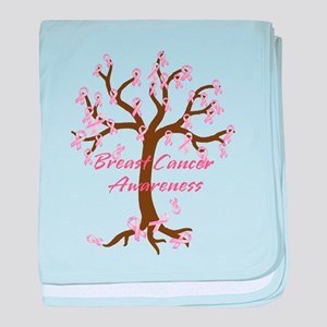 Breast Cancer Awareness Tree baby blanket