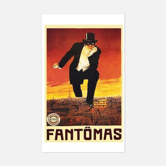 Fantomas 1913 Sticker (Rectangle)