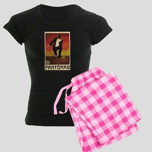 Fantomas 1913 Women's Dark Pajamas