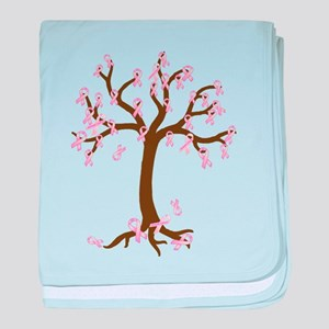 Breast Cancer Tree baby blanket