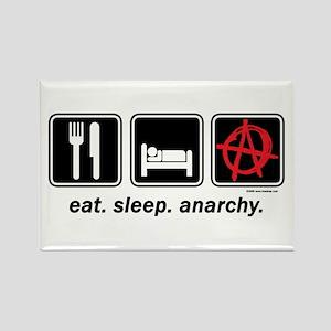 Eat. Sleep. Anarchy. Rectangle Magnet