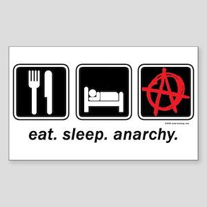 Eat. Sleep. Anarchy. Rectangle Sticker