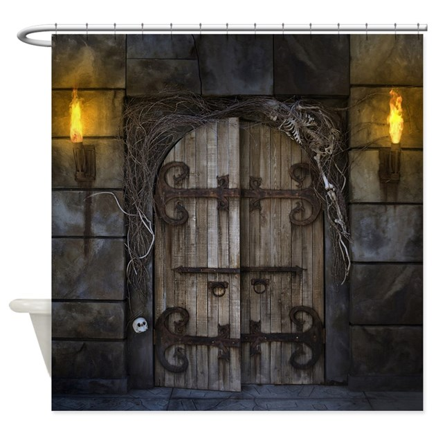 Curtain Wall Medieval Times : Gothic spooky door shower curtain by showercurtainshop