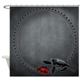 Rose crow Shower Curtains
