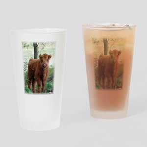 Highland Calf Drinking Glass