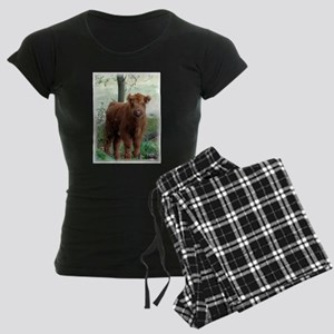 Highland Calf Women's Dark Pajamas