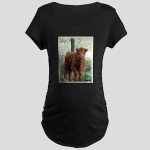 Highland Calf Maternity Dark T-Shirt