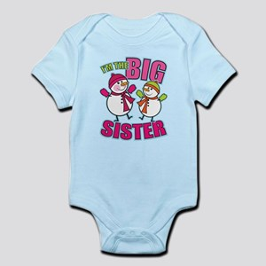 Big Sister Lil Bro Snowman Infant Bodysuit
