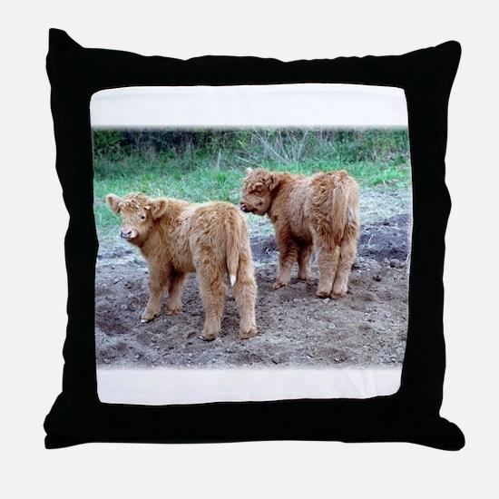 Cute faces... cute tails Throw Pillow